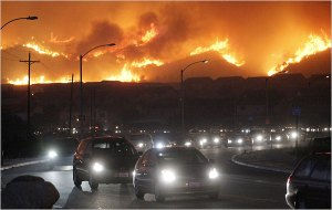 Evacuations due to fires in Southern California