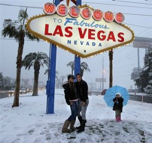 Snow in Las Vegas, Nevada