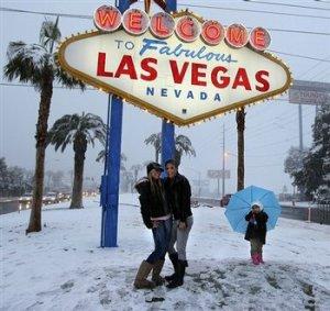 Snow in Las Vegas, Nevada