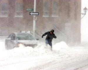 Snowbound car in Halifax, NS