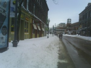 Sidewalks were impassable in Moncton