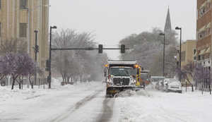 Snow clearing in Wichita, Kansas