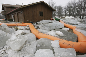 St. Clements, MB home surrounded by ice