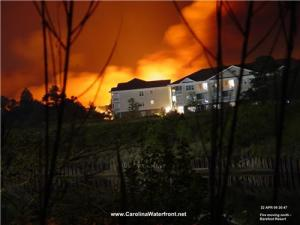Fire near home in North Myrtle Beach, SC, USA