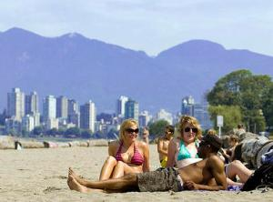 Vancouver's Kitsilano Beach on July 29.09