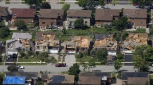 Tornado damage Vaughan, Ontario