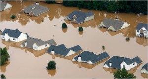 Flooding in suburban Atlanta, GA, Sept.22.09