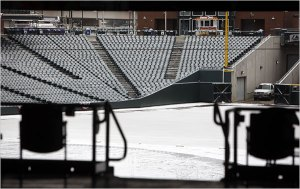 Denver's Coors Field covered in snow Oct.10.09