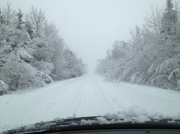 Driving in Cocagne, NB, 19 Dec 2012 (TWN)