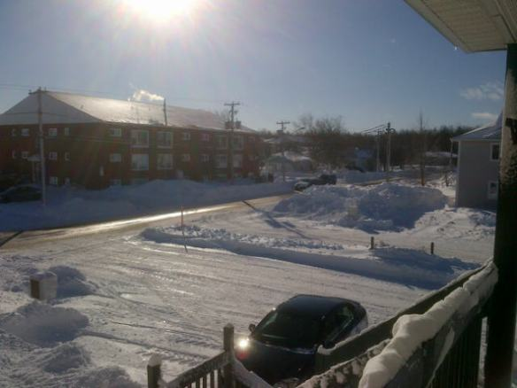 Post-Nor'easter in NE Moncton, 31 Dec 2012 (Dearing photo)