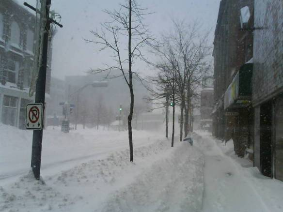Downtown Moncton covered in snow (Dearing file)