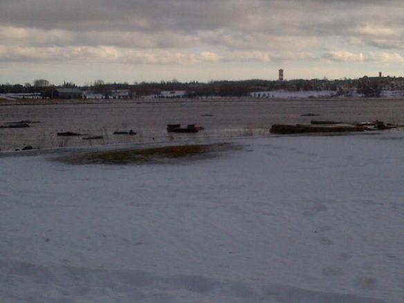 Petitcodiac River from Riverfront Park, 14 Jan 2013 (Dearing photo)