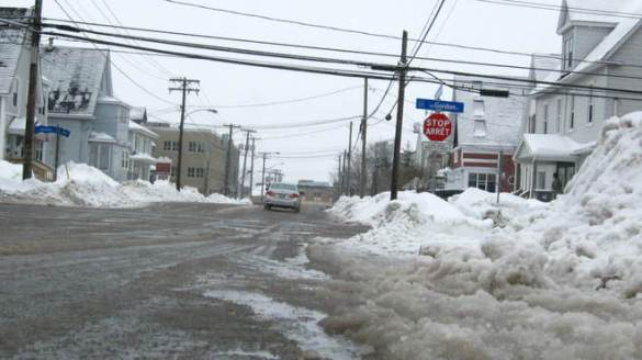 Slushy streets in Moncton, 20 Feb 2013 (courtesy TWN)