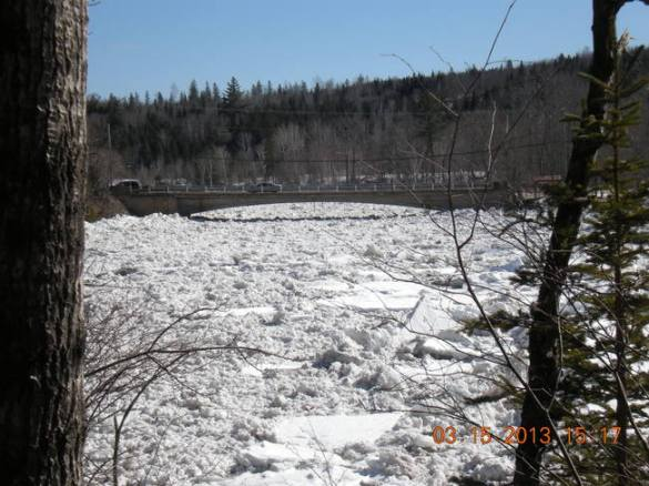 Nashwaak River in Stanley, NB, 15 March 2013