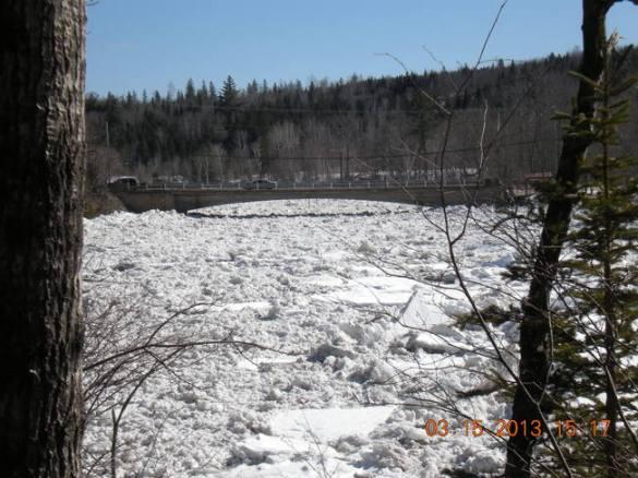 Nashwaak River in Stanley, NB, 15 March 2013