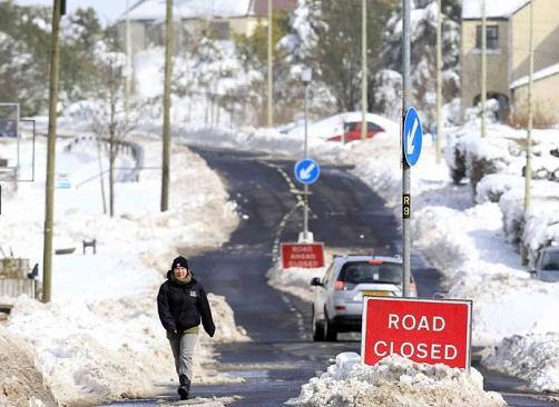 Snowy in Cargan, Northern Ireland, UK, 25 March 2013 (Reuters)