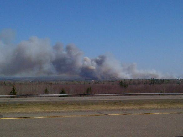 Forest fire near River Glade, NB, 07 May 2013 (Dearing)