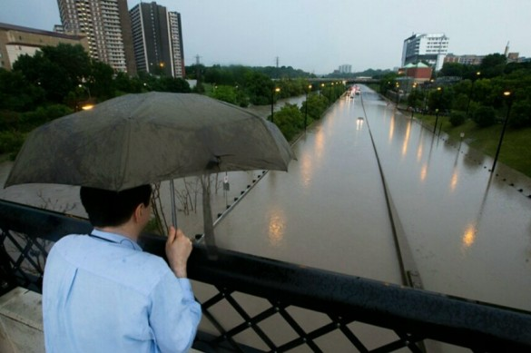 Flooded Don Valley Parkway in Toronto (Reuters)