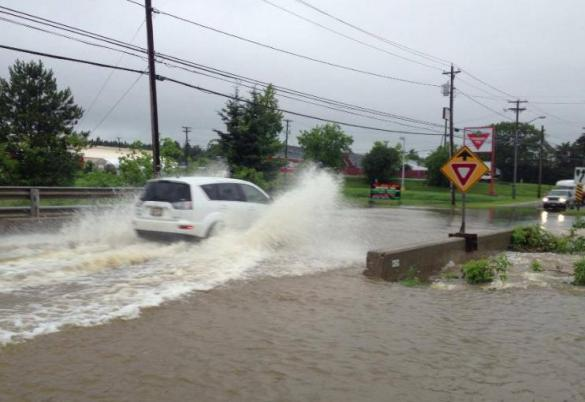 Flooding in St. Stephen, 26 July 2013 (St. Croix Courier/Facebook)