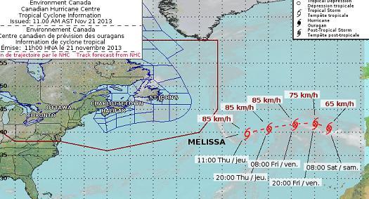 Courtesy Canadian Hurricane Centre