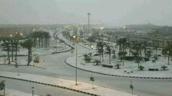 Snow in Cairo, 13 Dec 2013 (Twitter)