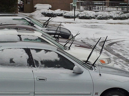 A common sight in Moncton during periods of freezing rain or even snow
