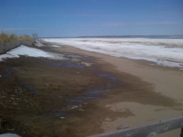 Parlee Beach, NB, 12 April 2014 (Dearing)
