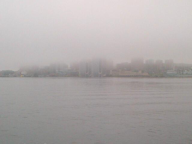 Halifax, NS in fog, 14 June 2014 (Dearing)