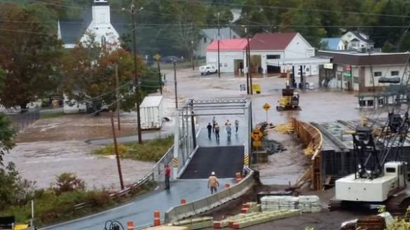 Flooding in Great Village, NS, 22 Sept 2014 (Twitter)