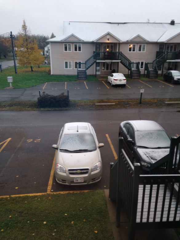 First snow in NE Moncton, 03 Nov 2014 (Dearing)