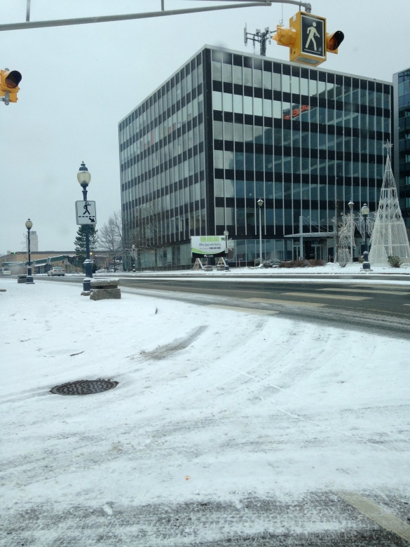 Icy streets in downtown Moncton, NB, 20 Nov 2014 (Dearing)