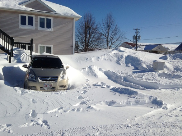 Northeast Moncton after the latest blizzard, 03 February 2015 (Dearing)