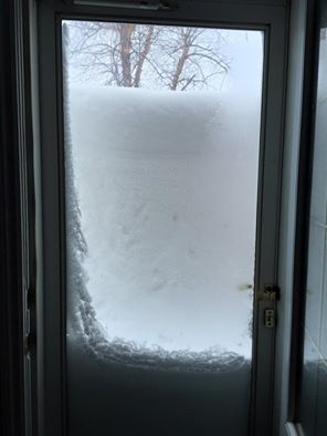 This is what Moncton family found when they opened their door today, 16 March 2015 (Facebook)