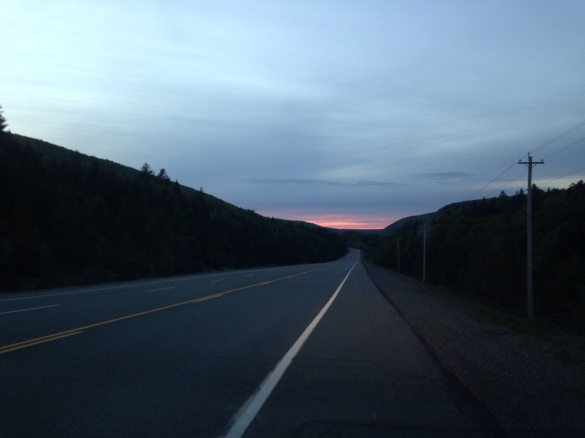 Sunset over the Wentworth Valley, NS, 20 June 2015 (Dearing)