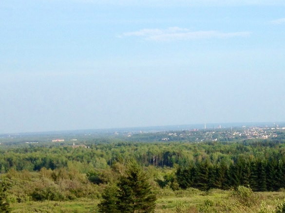 Downtown Moncton in the distance from atop Magnetic Hill, 07 Sept 2015 (Dearing)