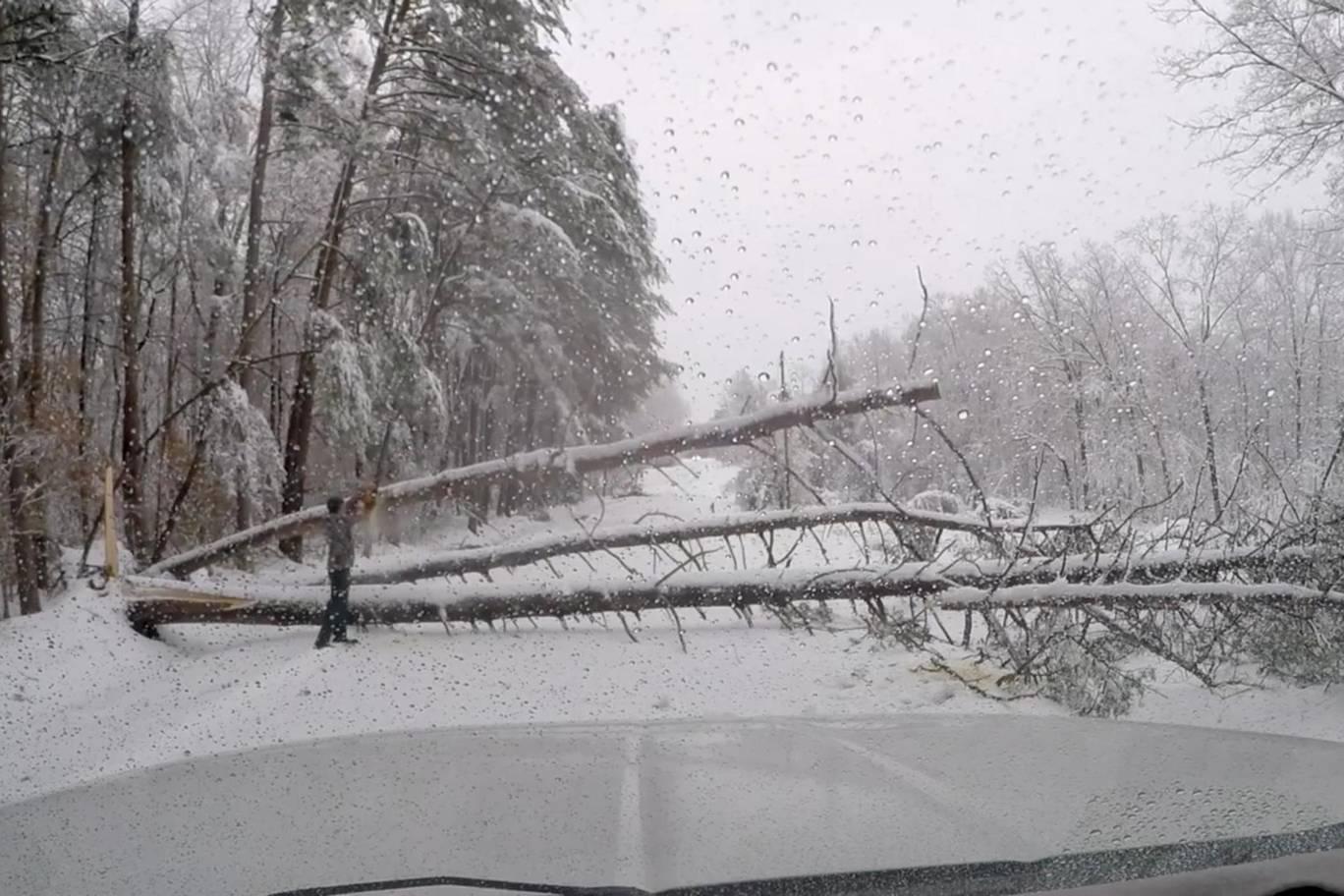 Southeast USA snowstorm